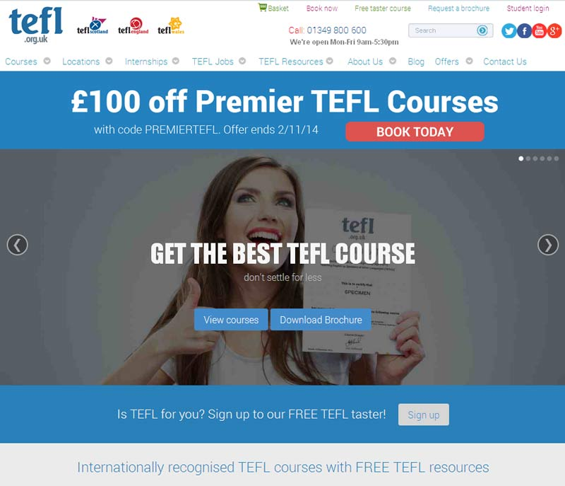 click to visit TEFL.org.uk website